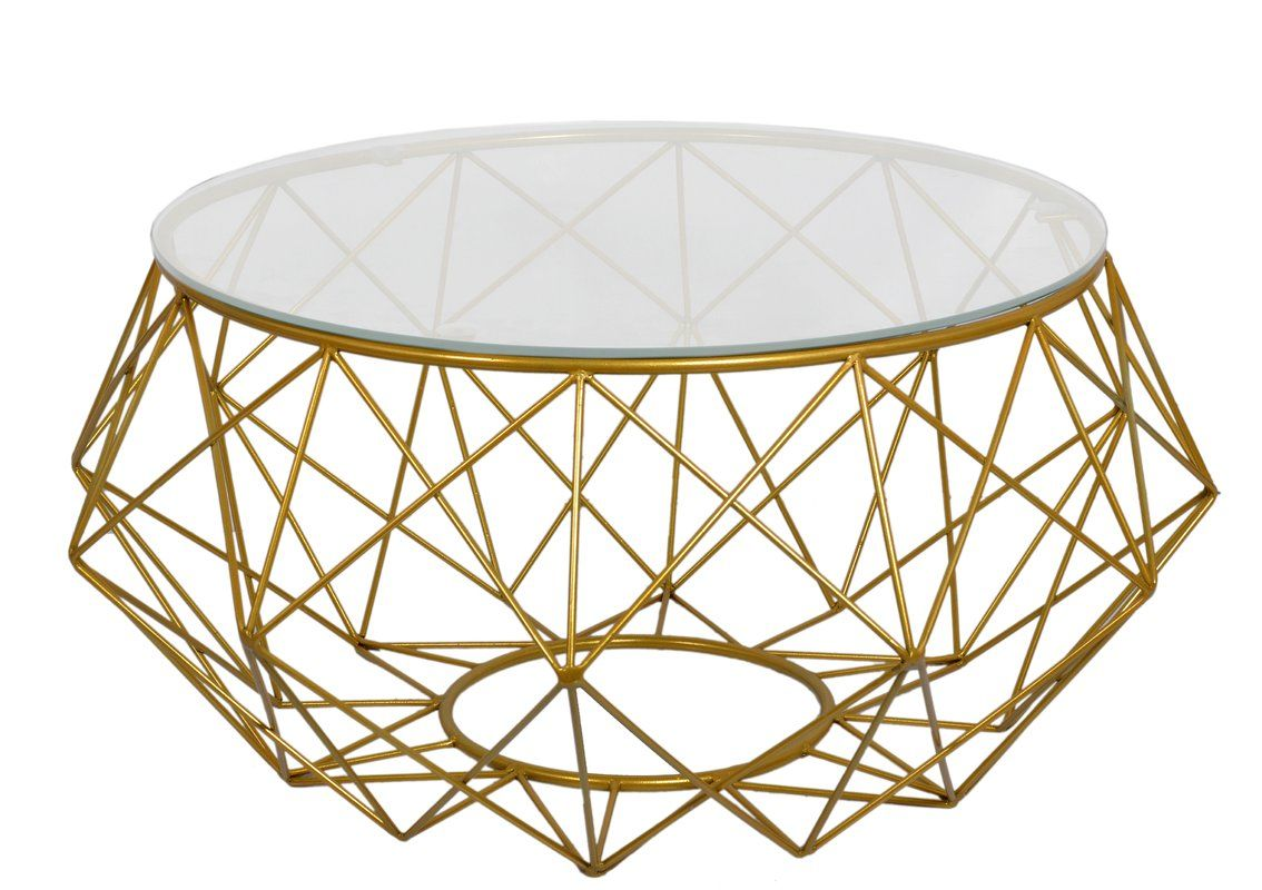 Default Name Gold Coffee Table Wire Coffee Table Geometric Coffee Table [ 800 x 1134 Pixel ]