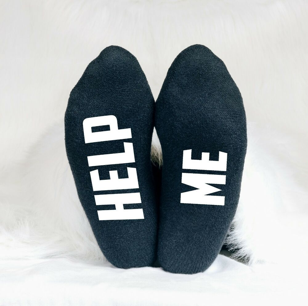 Help Me Funny Men/'s Socks Dad Brother Father/'s Day Husband Groom Wedding Hubby