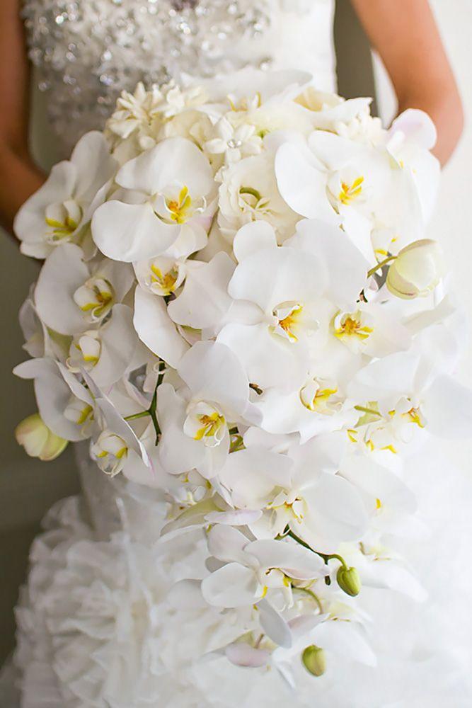 45 Gorgeous Cascading Wedding Bouquets Med Billeder Blomster