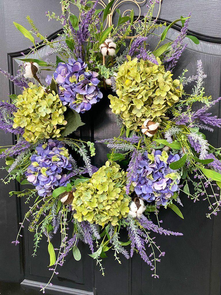 Farm house wreath lavender wreath front door summer