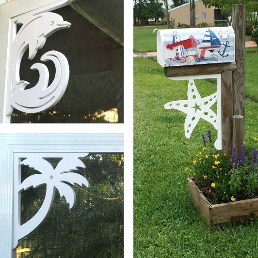 beach brackets corners & mailbox