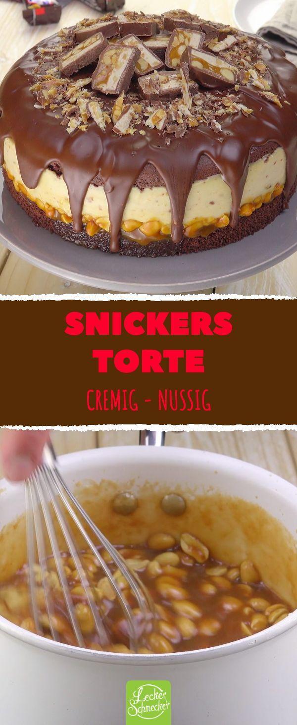Die cremig-nussige Snickers-Torte ist das süße Highlight des Jahres