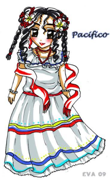 Vestidos Tipico Region Pacifica | Crafts for kids | Pinterest ...