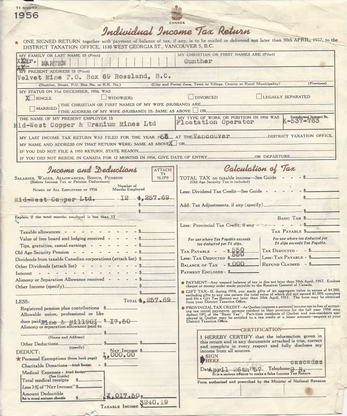Employee Tax Form Vintage Income Tax Form Blank By