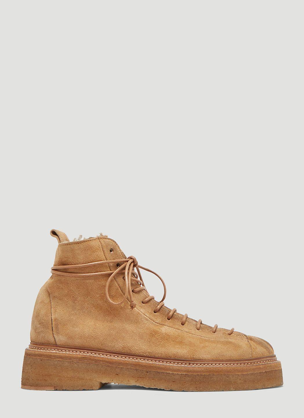 2e96617ac75 MARSÈLL Parruccona Shearling Lined Monkey Boots in Beige. #marsèll ...