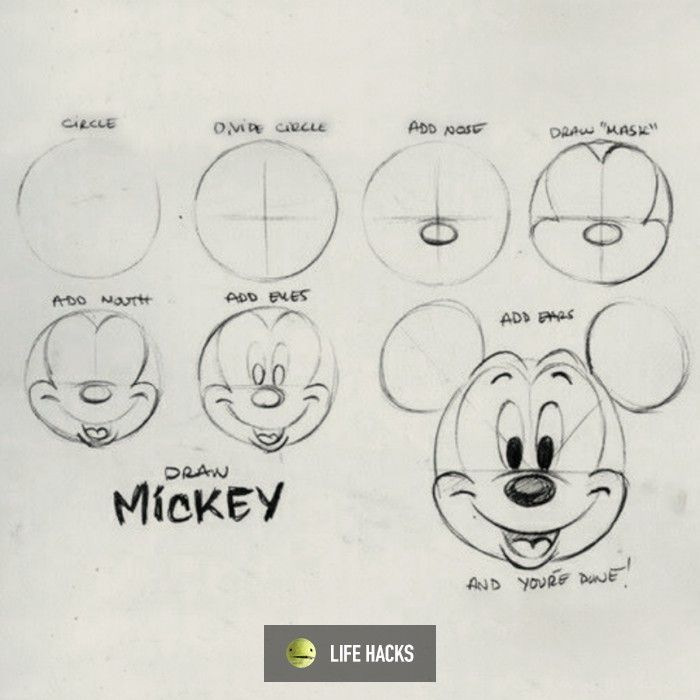 how to draw mickey mouse clubhouse