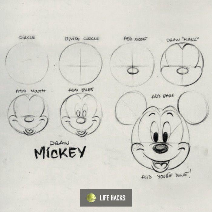 How To Draw Mickey Mouse Dibujos Faciles De Disney Dibujos De