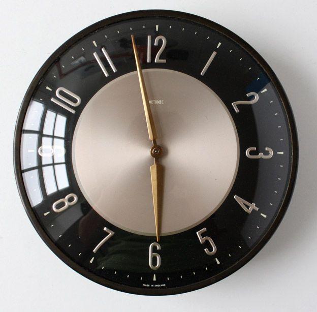 Mid Century Modern Wall Clock Clock Retro Clock Midcentury Modern