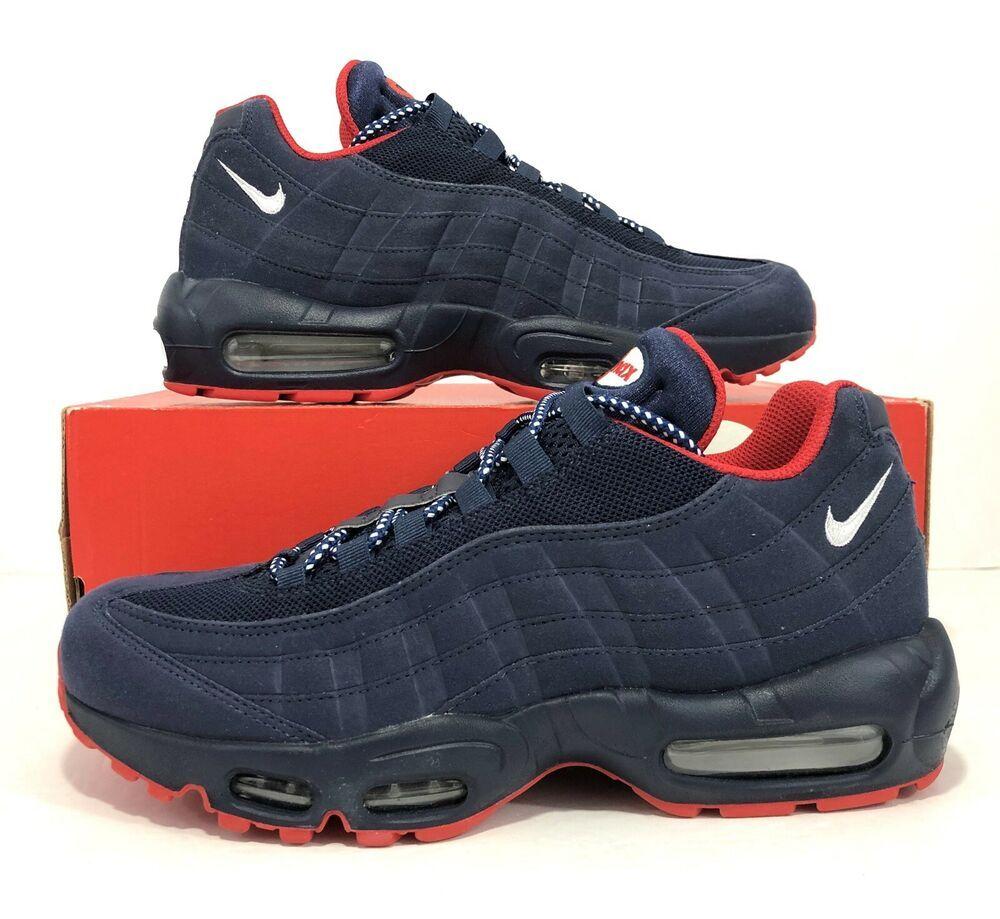Nike Air Max 95 Premium shoes red blue