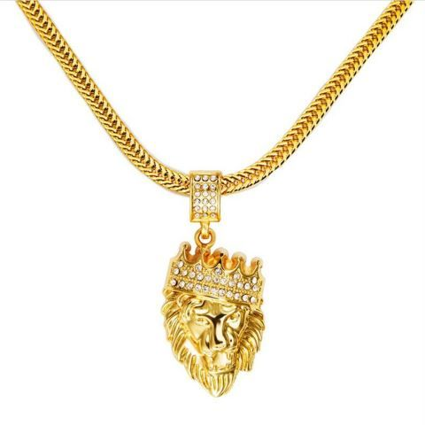 Hip Hop Iced Out Necklace Gold SurewayDMJewelry Pinterest