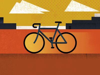 A Mod Geometric Cycling Print Bicycle Art Design Cycling Art