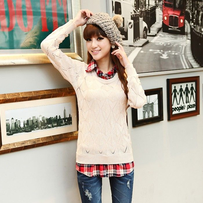 Image result for sweater over shirt women | Clothing | Pinterest ...