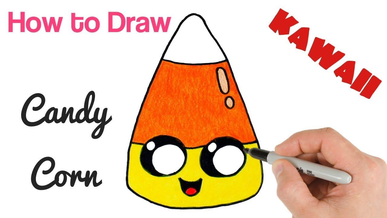 How to Draw Candy Corn Cute Kawaii