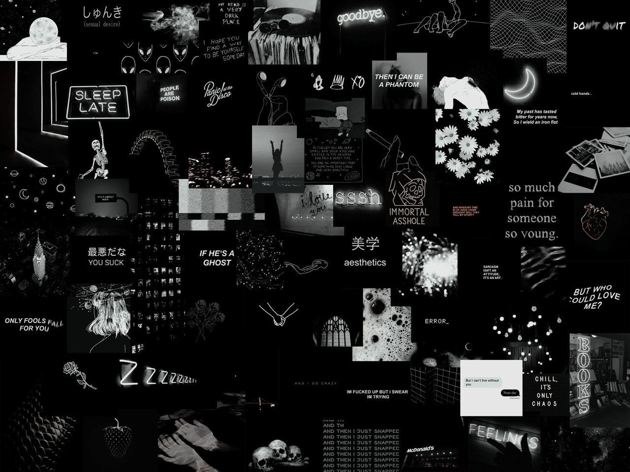 Shade Grunge Collage Laptop Wallpaper Best Picture For Wallpaper Desktop Art For You In 2020 Aesthetic Desktop Wallpaper Laptop Wallpaper Black Aesthetic Wallpaper