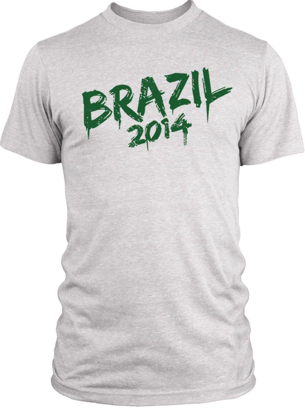 Big Texas Brazil 2014 (Green) Vintage Tri-Blend T-Shirt