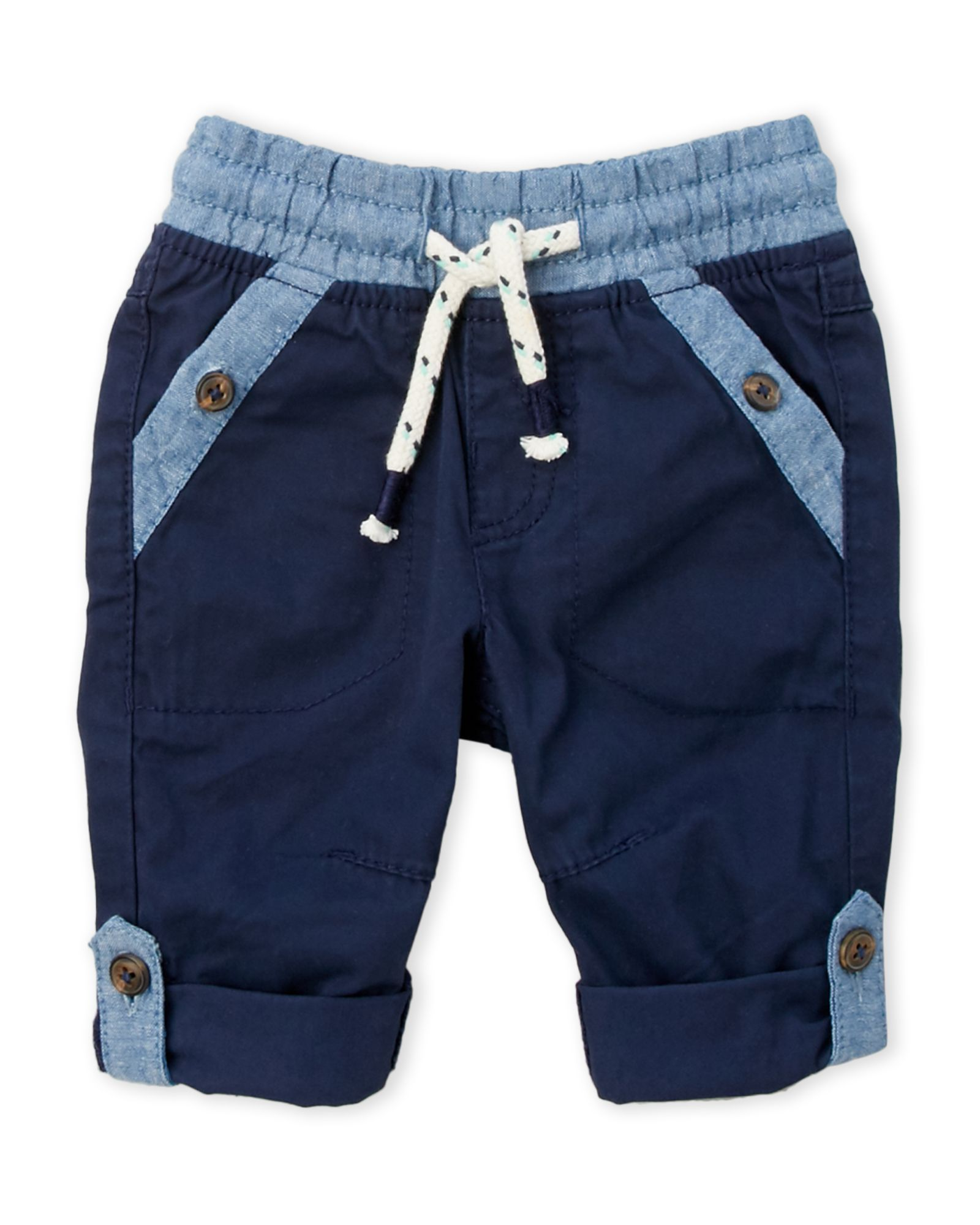 Tom Tailor (Newborn/Infant Boys) Twill Pants with Oxford Details