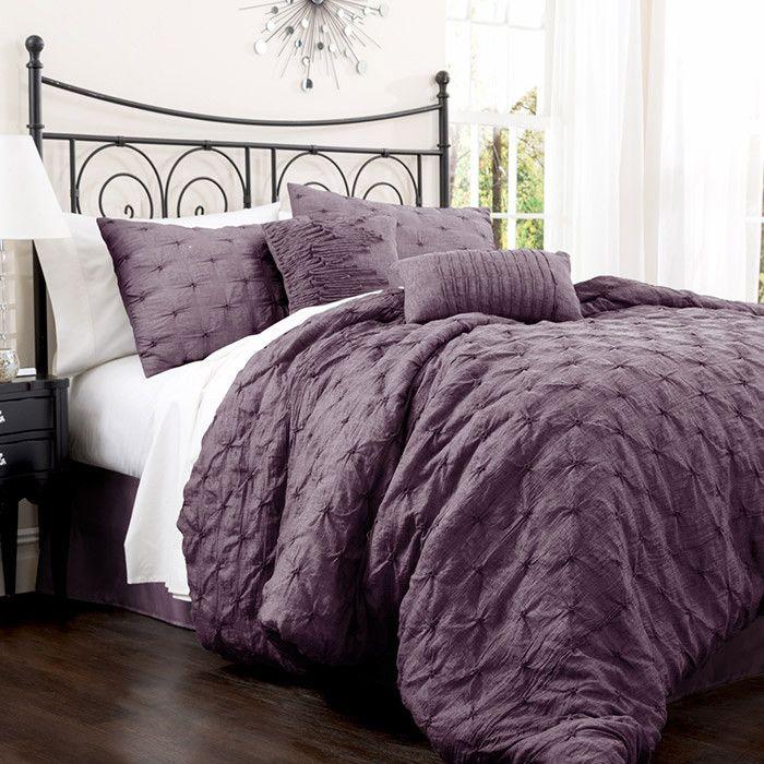 4 Piece Anabel Comforter Set In Purple Comforter Sets King Size Comforter Sets Queen Size Comforter Sets