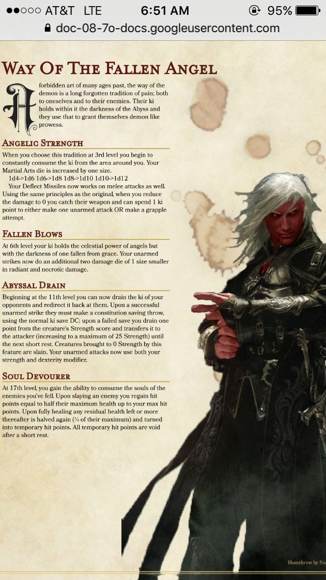 Homebrew Monastic Tradition | dungeons and dragons in 2019