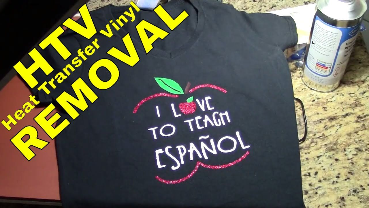 Heat transfer vinyl htv removal iron on removal after