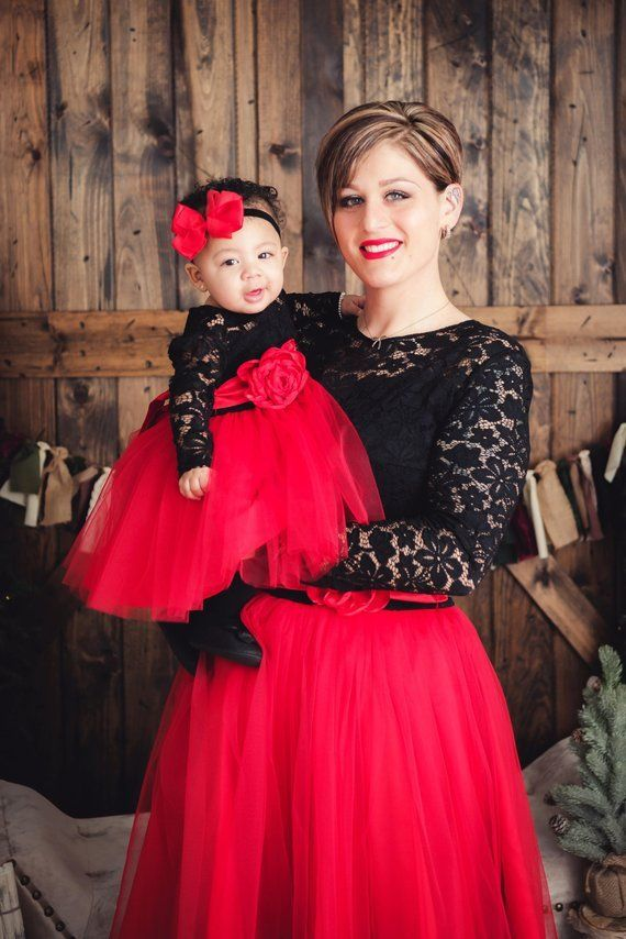 9a0c605dd6 Mother Daughter matching Dress, Mommy and me outfits, Matching Christmas  Outfits, mommy and me dress