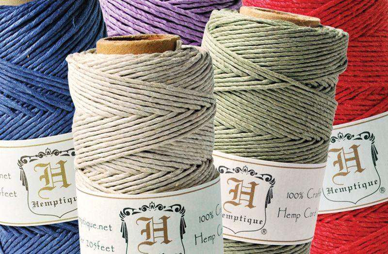 Hemptique Solid Color Hemp Cord And Twine Cords Crafts Hemp Crafts Hemp Cord