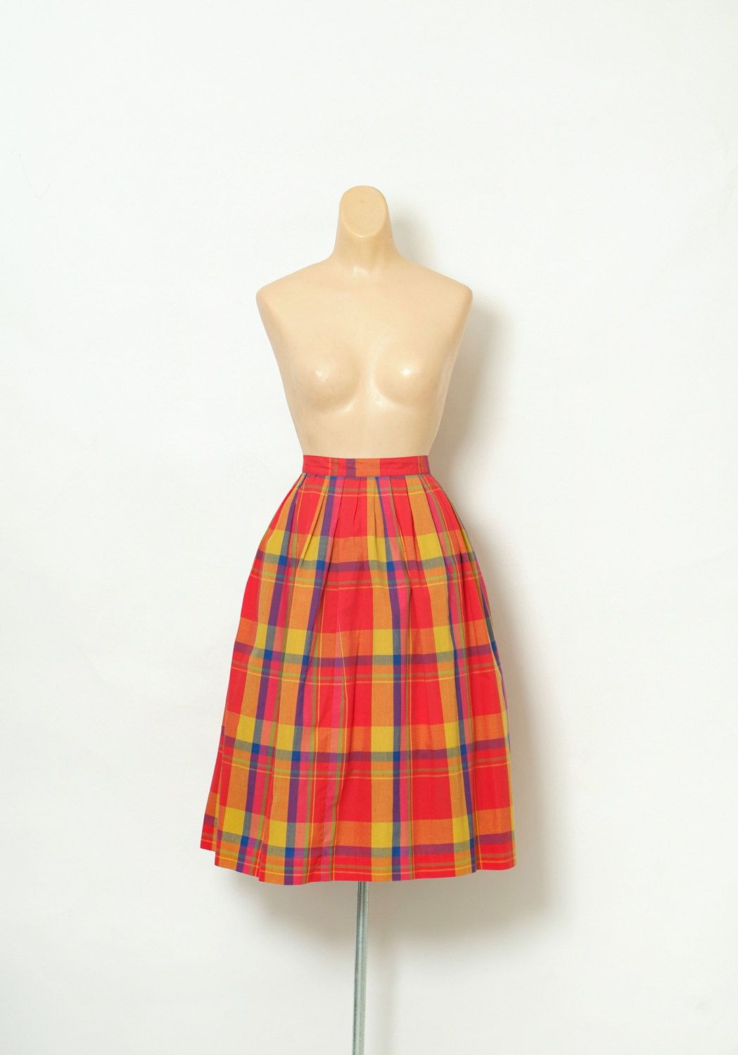 Vintage 80s Skirts  / 80s  / retro / 80s Skirts / Plaid /Vintage fashion / gift for 20 / vintage 80's / 1980s / new wave by VintageBoxFashions on Etsy