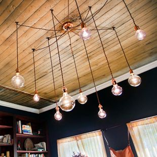3 Light Chandelier Cascading Pendant Lights With Edison Light Bulbs Minimalist Home Decor 209 00 Bedroom Light Fixtures Edison Lighting Chandelier Decor