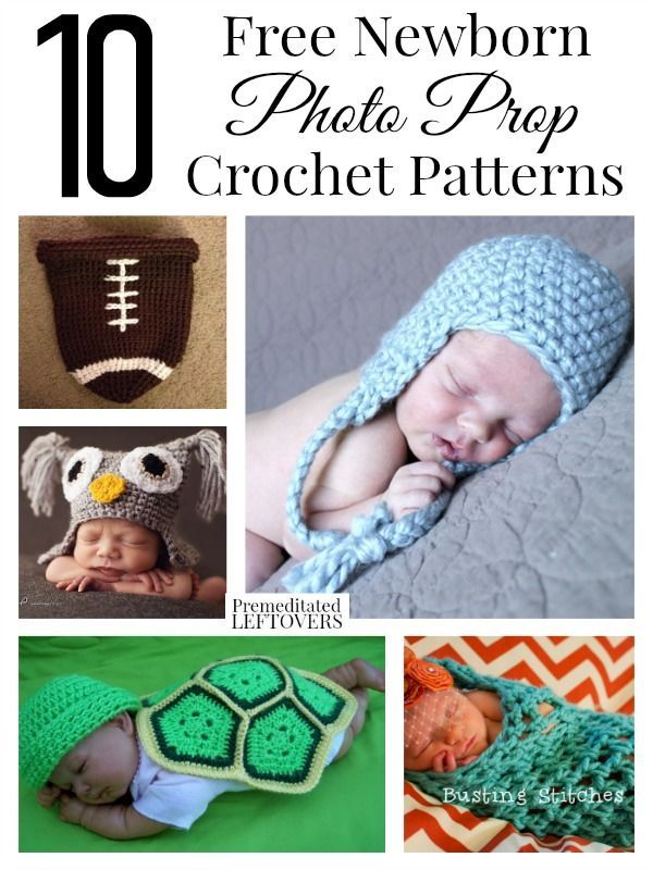 Getting excited to take your little ones newborn pictures here are 10 free newborn photo prop crochet patterns to choose from