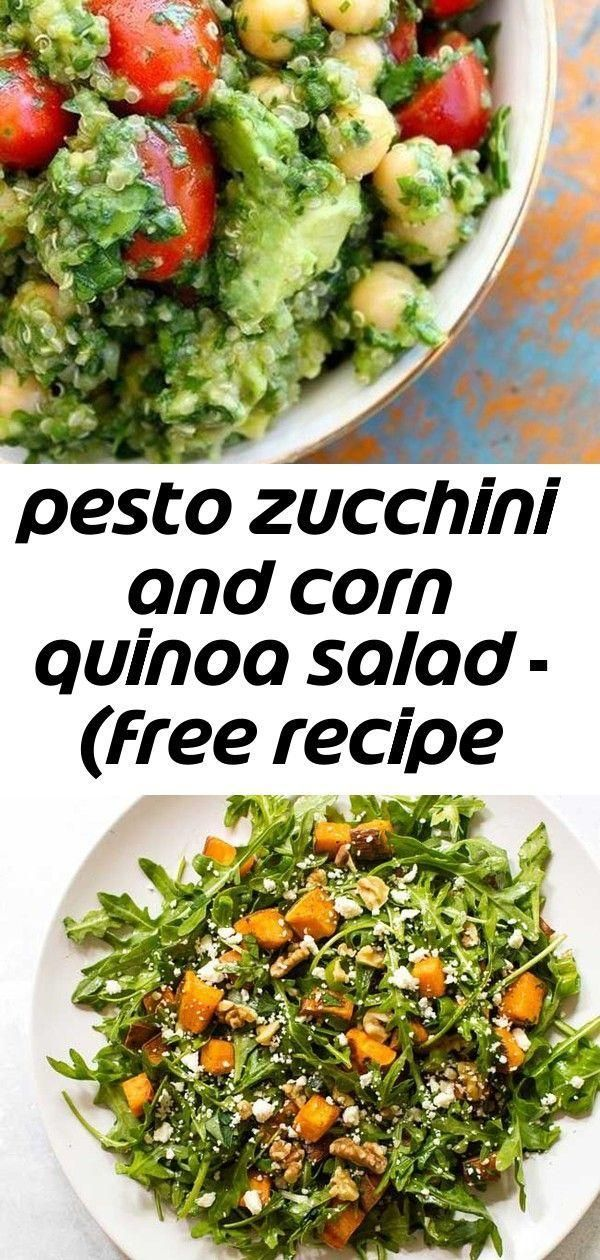 zucchini and corn quinoa salad  free recipe below 1  Recipes Pesto zucchini and corn quinoa salad  free recipe below 1  Recipes