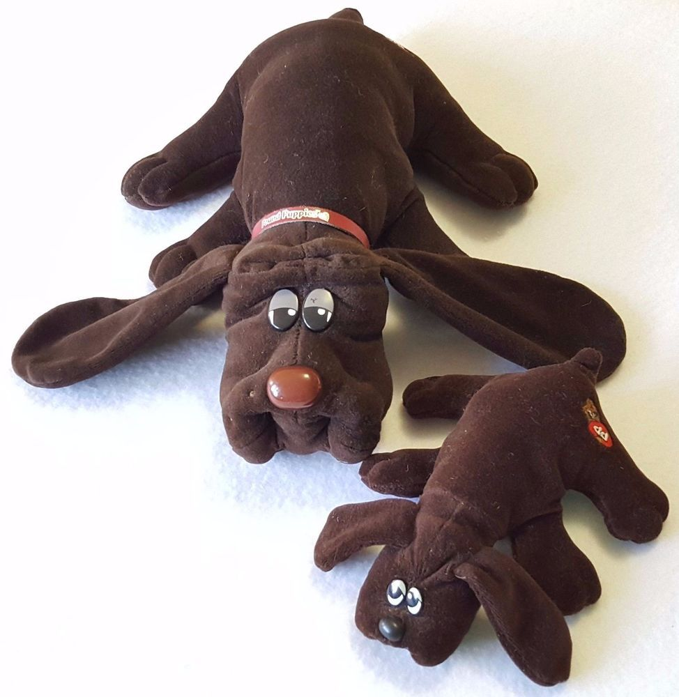 Vintage 1985 Tonka Pound Puppies Lot Of 2 Matching Brown Stuffed Animal Toy Tonka Pet Toys Pound Puppies Dolls For Sale