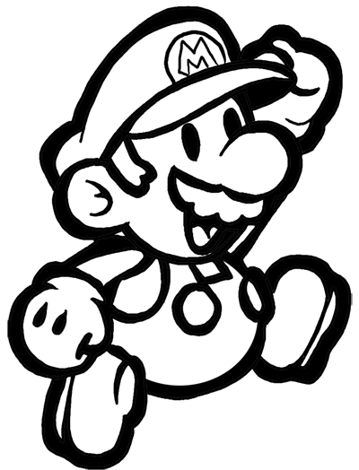 Mario simple. How to draw classic