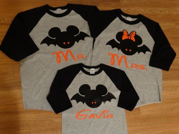 25e00d8064146 Free/Fast Shipping for US Mickey and Minnie Halloween Bats Family 3 ...
