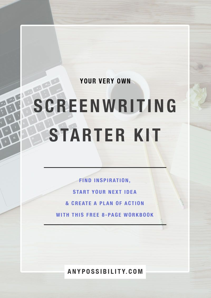 the idea generator a screenwriting starter kit the writer s