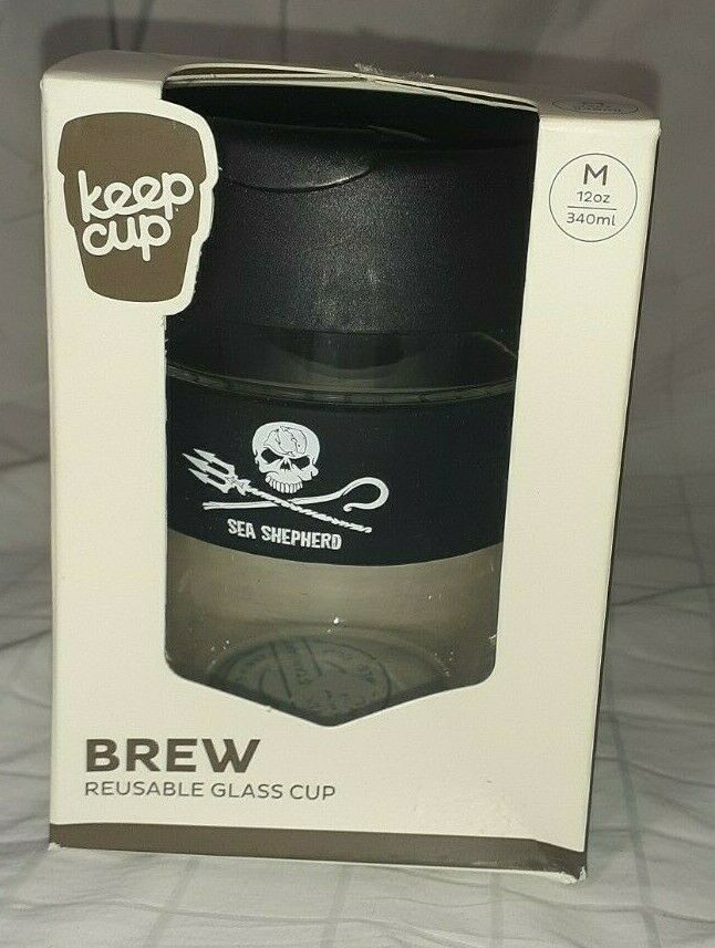KeepCup Brew Reusable Glass 12 oz Travel Tempered Hard Lid Splashproof Cup NEW #KeepCup #AllOccasions