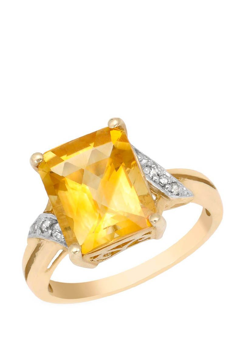 4.55 CTW Citrine Gold Ring | Brandsfever
