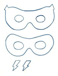 Felt super hero masks I think
