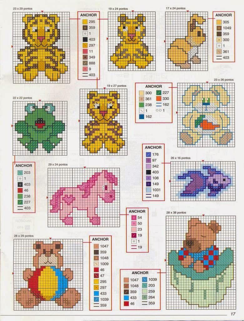 Revistas de manualidades Gratis: Punto de cruz para bebes | Punto de ...
