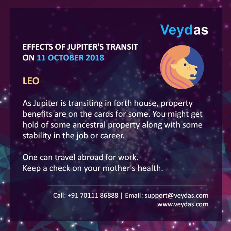 LEO? See how Jupiter's transition on 11th October will