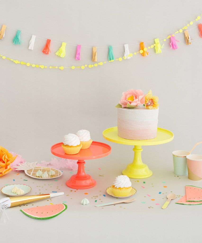 neon cake stand large from oh happy day party shop party party neon cakes balloon. Black Bedroom Furniture Sets. Home Design Ideas