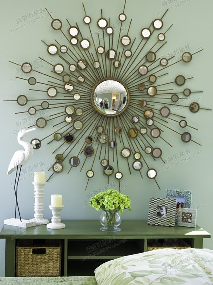 Creative Iron Mirror luxurious entrance hall living room ...