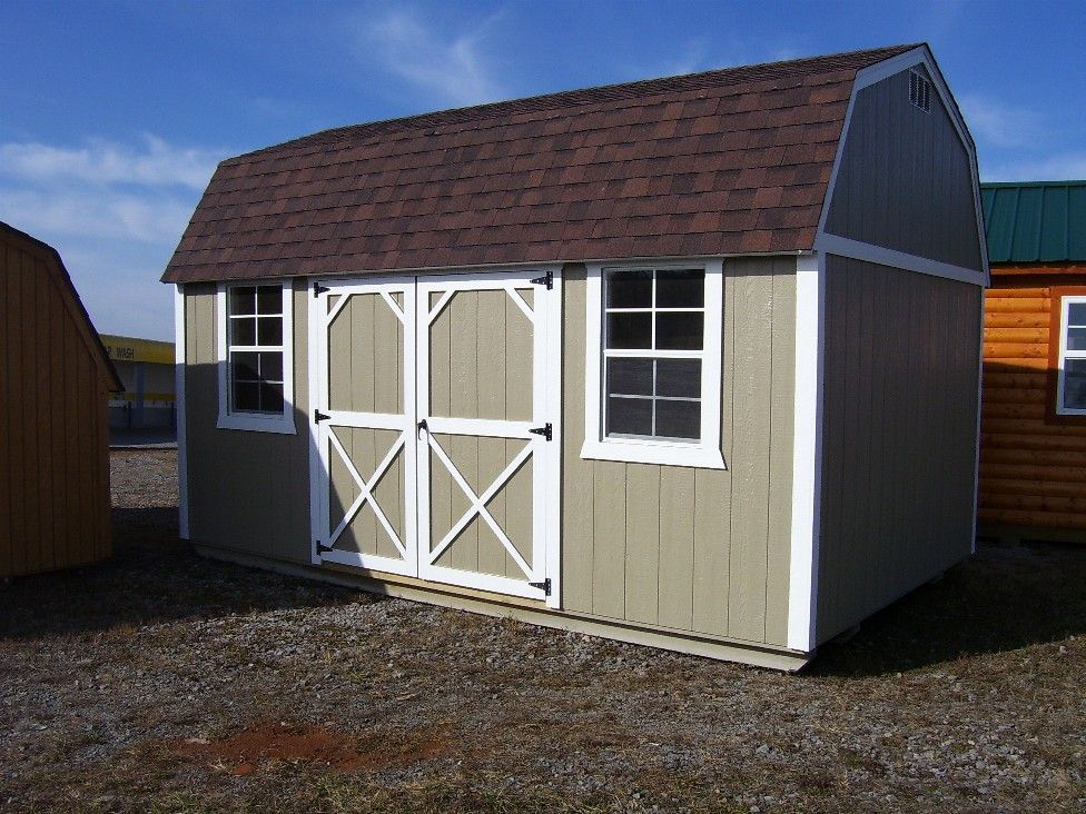 Gambrel roof shed with loft dura built s side lofted for Gambrel shed