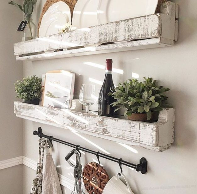 Pin For Later: Pallet Shelves Made From Pallets. I Love