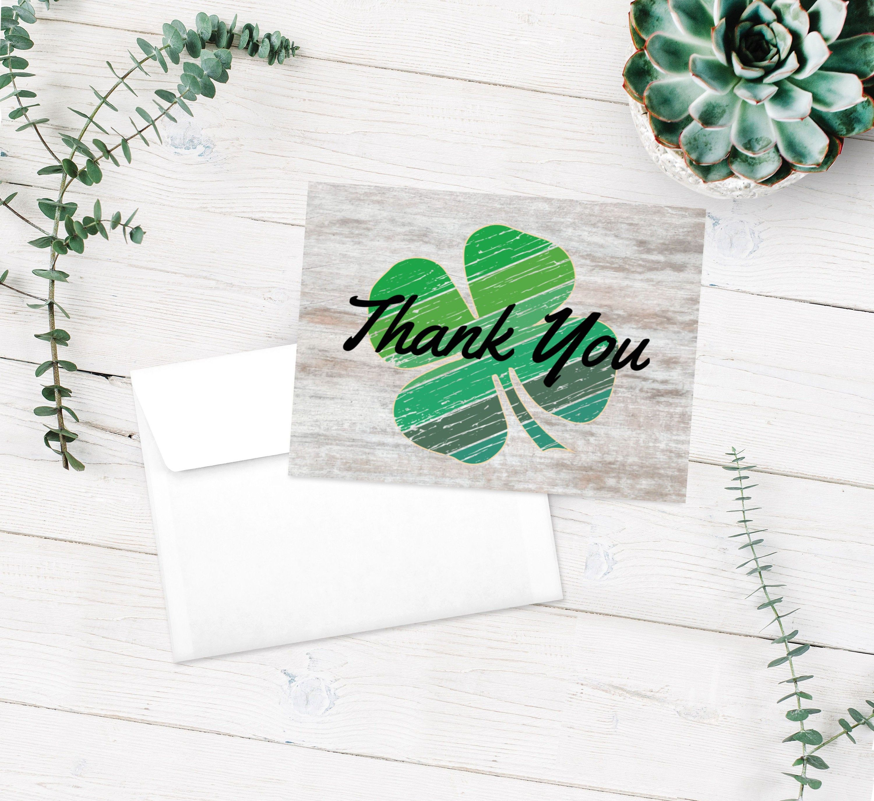 Distressed Clover Blank Thank You Card Pig Goat Lamb Steer Heifer Chicken Bunny Buyer Appreciation Buyer Thank You Cards Thank You Cards Your Cards Appreciation Cards
