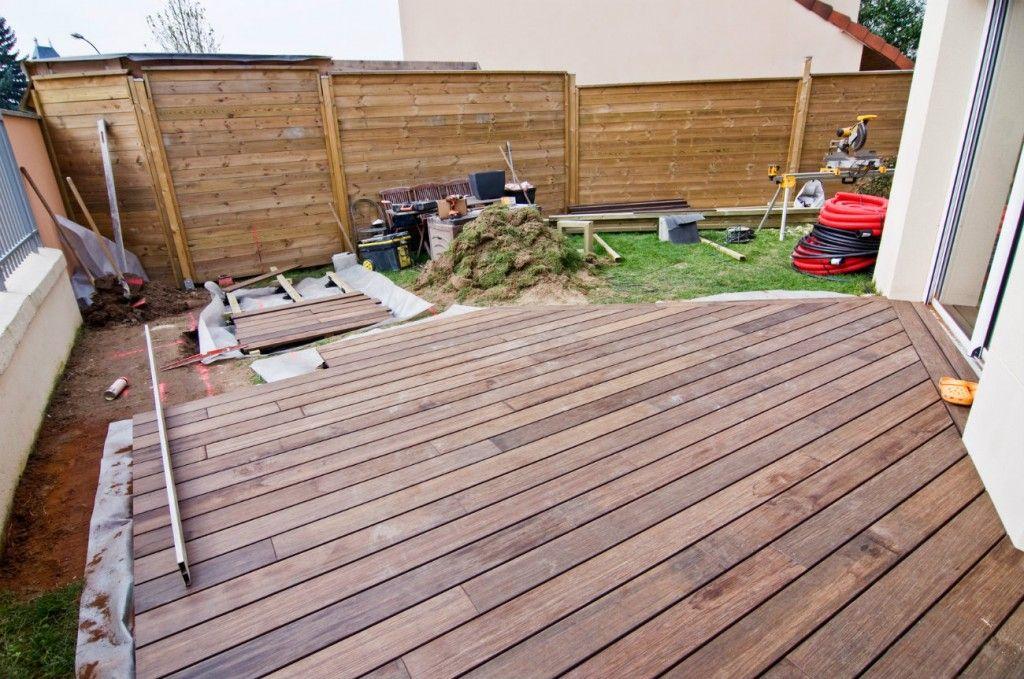preparation du terrain terrasse bois JARDIN Pinterest Construction - construction d une terrasse bois