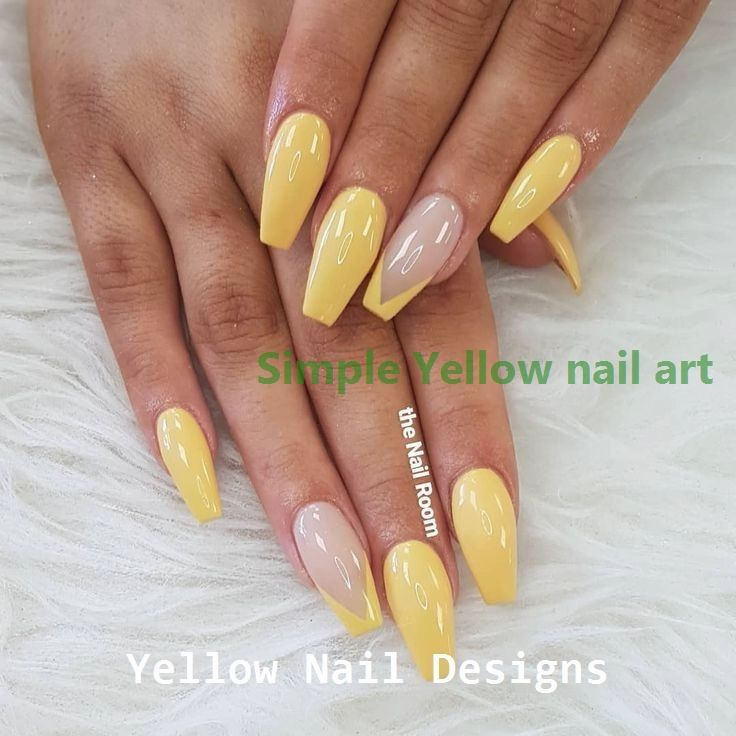 23 Great Yellow Nail Art Designs 2019 1 In 2020 Yellow Nails