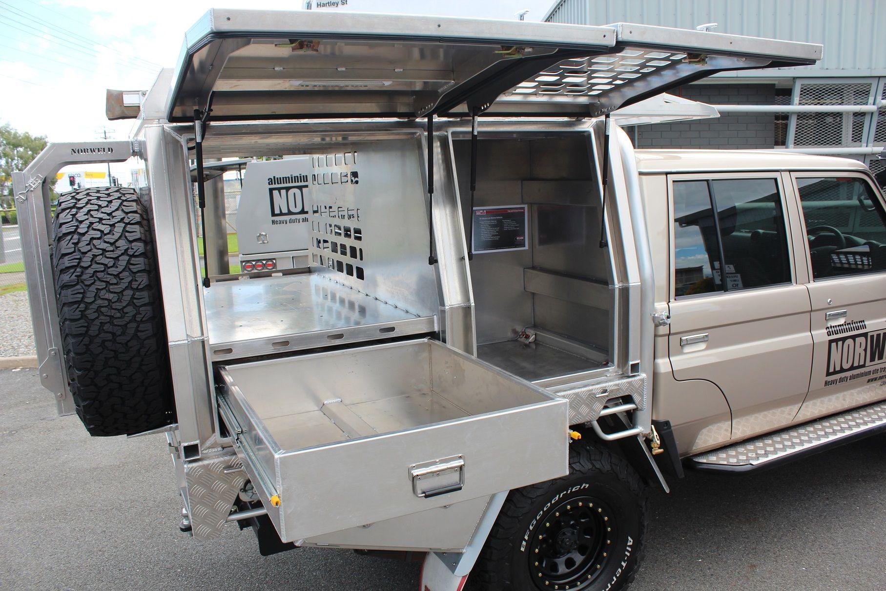 Toyota Landcruiser Aluminium Canopy Truck Tool Box