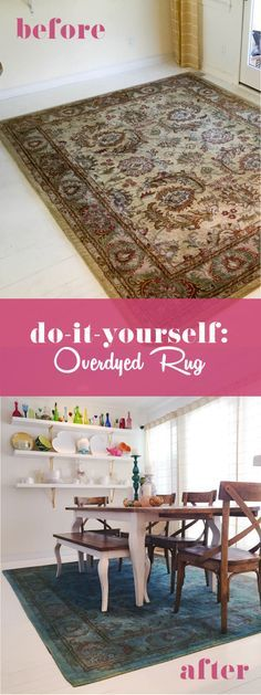 Overdyed Rug with RIT fabric dye DIY | Overdyed rugs diy ...