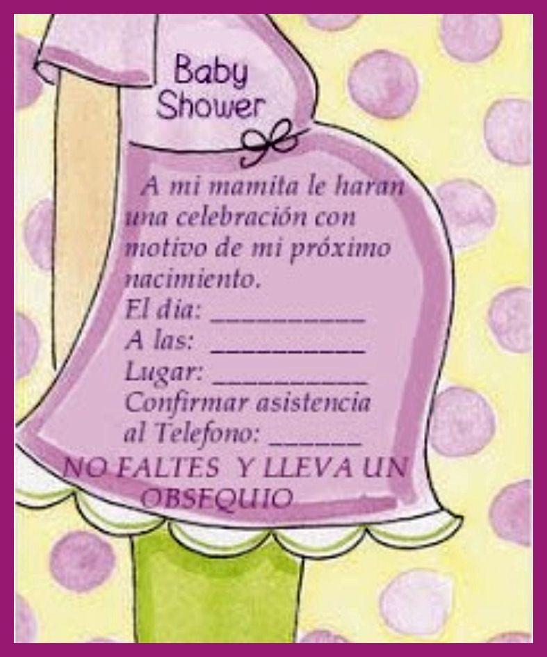 la casa de chichi invitaciones para baby shower listas invitacion ...