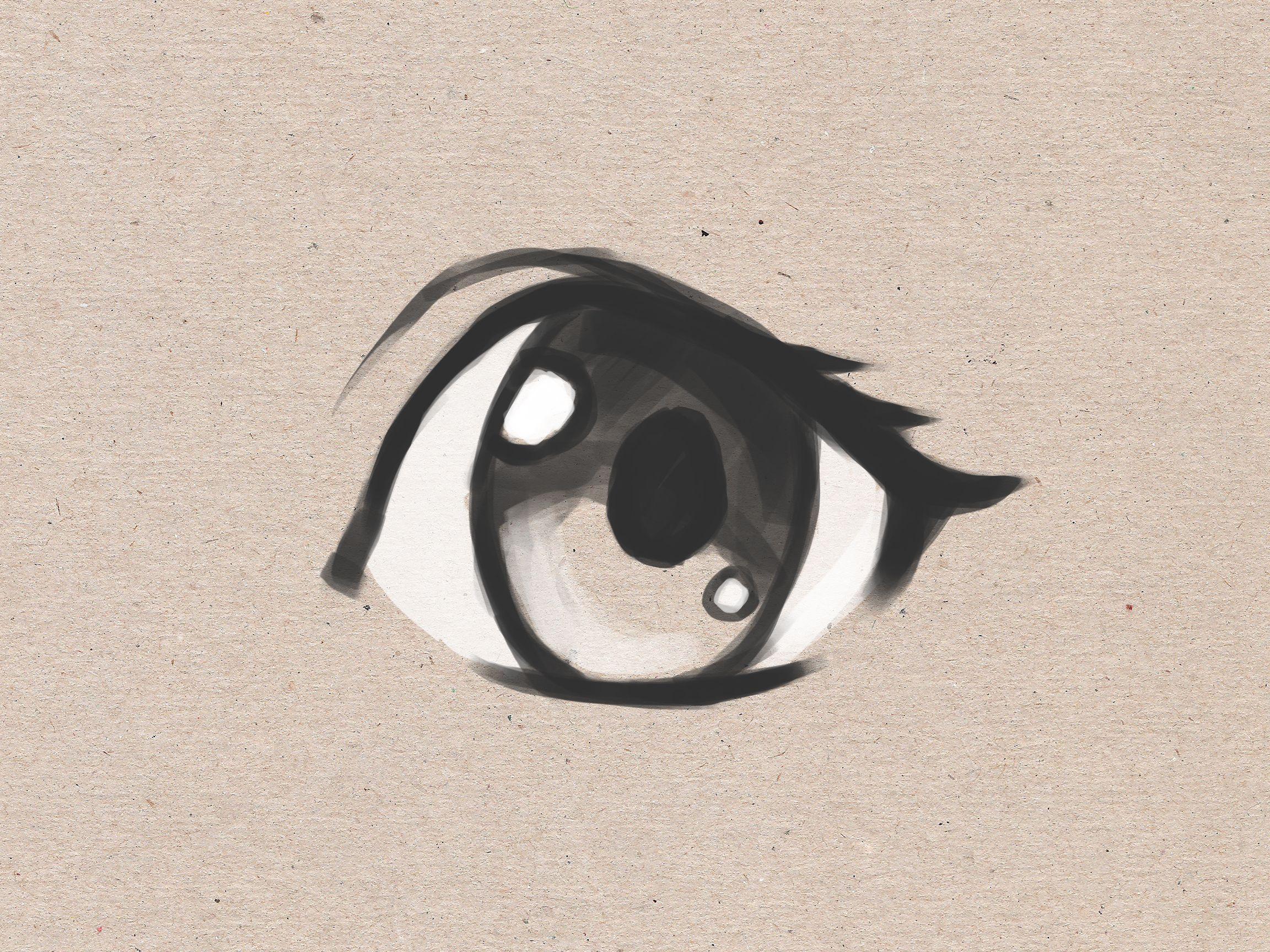 Draw Simple Anime Eyes Easy Anime Eyes Eye Drawing Simple