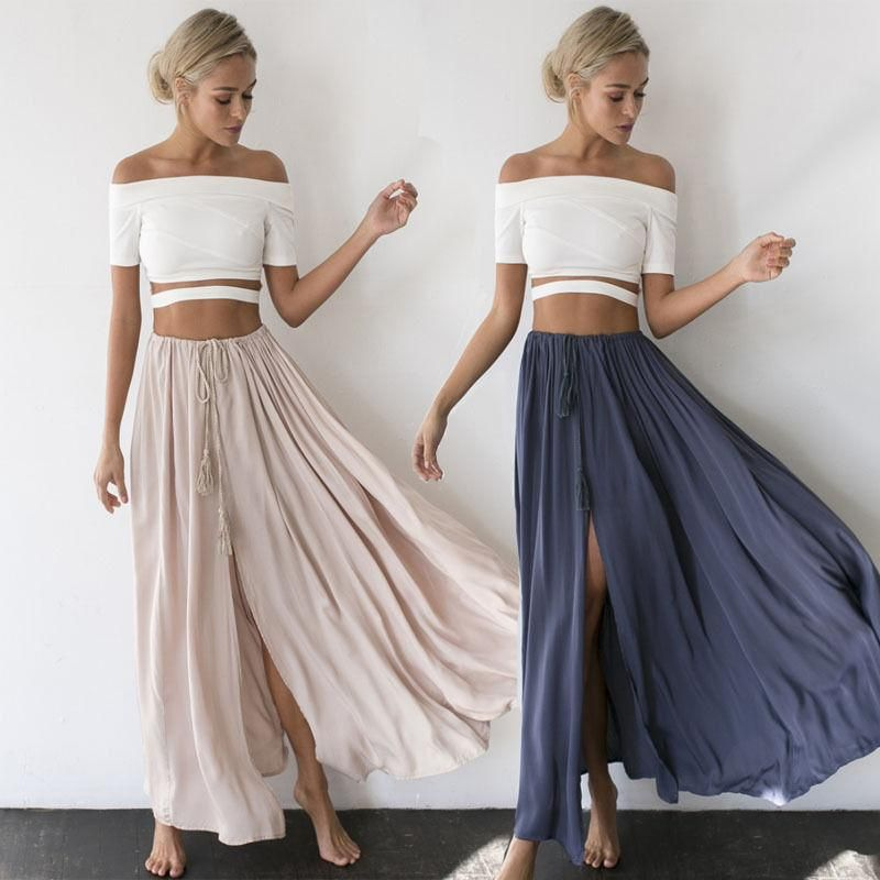 fda93a298 Women's Gypsy Boho Tribal Floral Skirt Maxi Summer Beach Long Casual S –  SKYES WHOLESALE FASHION